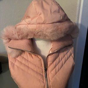 Bebe Puffer Hooded Vest